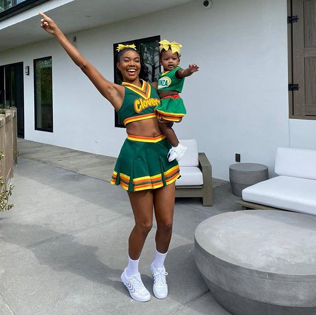 "Gabrielle Union and her daughter, Kaavia James Union Wade, as her character, Isis, from *Bring It On* <br><br> *Image: Instagram [@gabunion](https://www.instagram.com/p/B4IrulDpJHP/|target=""_blank""