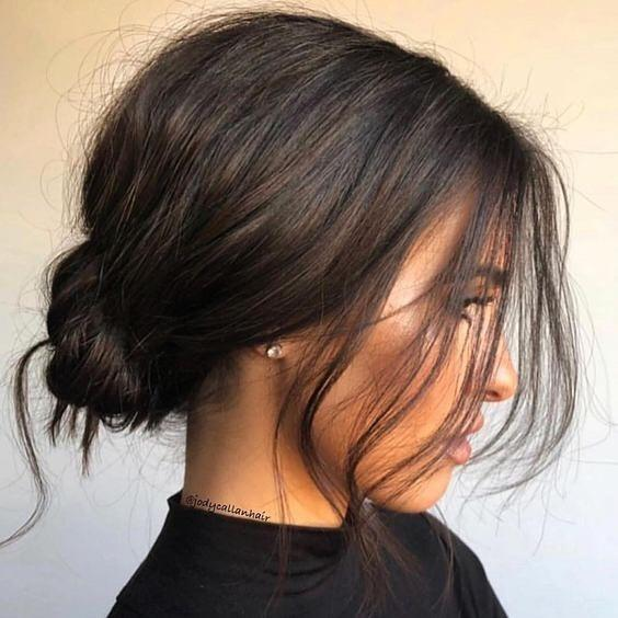"**No-Care Hair**  We're seeing everyone from Meghan Markle to Hailey Bieber sport the messy, no-care low bun on their wedding day. However, this look works for any style as long as your hair is loose and slightly unkempt.  [@cashlawlesshair](https://www.instagram.com/cashlawlesshair/|target=""_blank""
