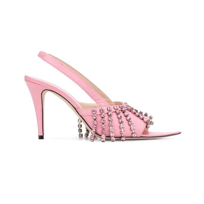 "***Disco Heels***<br><br> Fringe heels by Christopher Kane, $1,510 at [Farfetch](https://www.farfetch.com/au/shopping/women/christopher-kane-crystal-fringe-heeled-sandals-item-13569888.aspx target=""_blank"" rel=""nofollow"")."