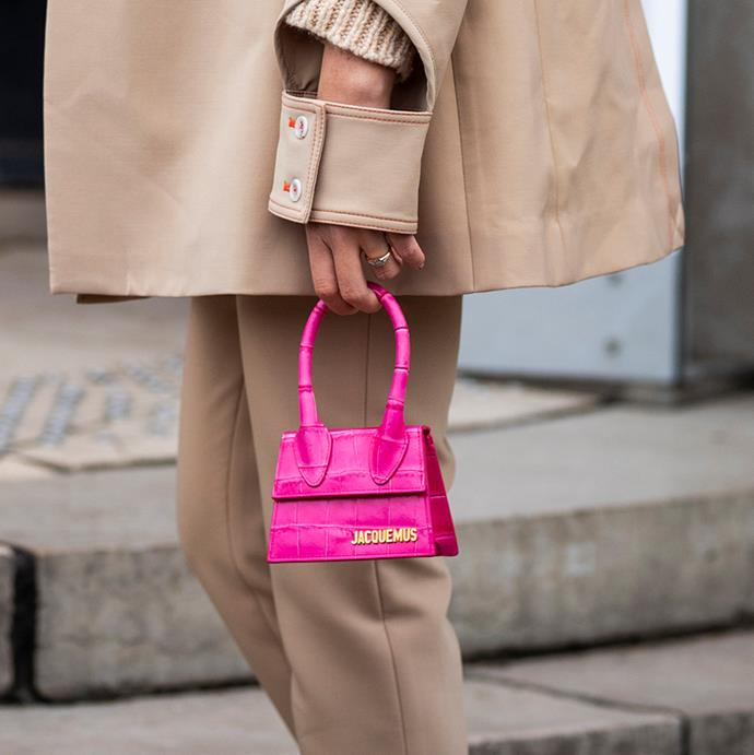"""***A Micro-Bag***<br><br> """"Less is more, darling. Opt for a micro-tote that will carry only your lipstick and Birdcage pass,"""" says O'Neill. Whether top-handle, clutch or cross-body, the ultra-tiny size will pack a punch."""