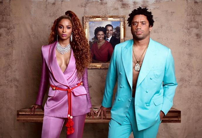 """Ciara and Russell Wilson as Beyoncé and Jay-Z.<br><br>  *Image via [@ciara](https://www.instagram.com/p/B4PeofjlunC/