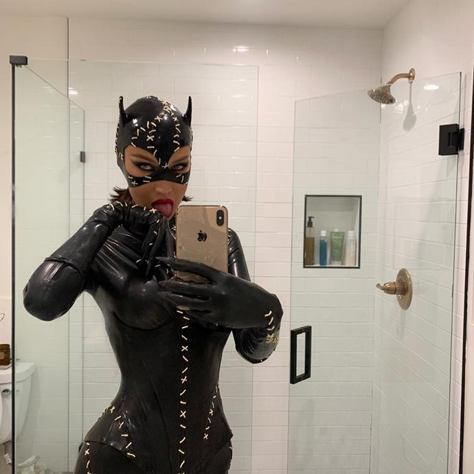 Bella Hadid as Catwoman.