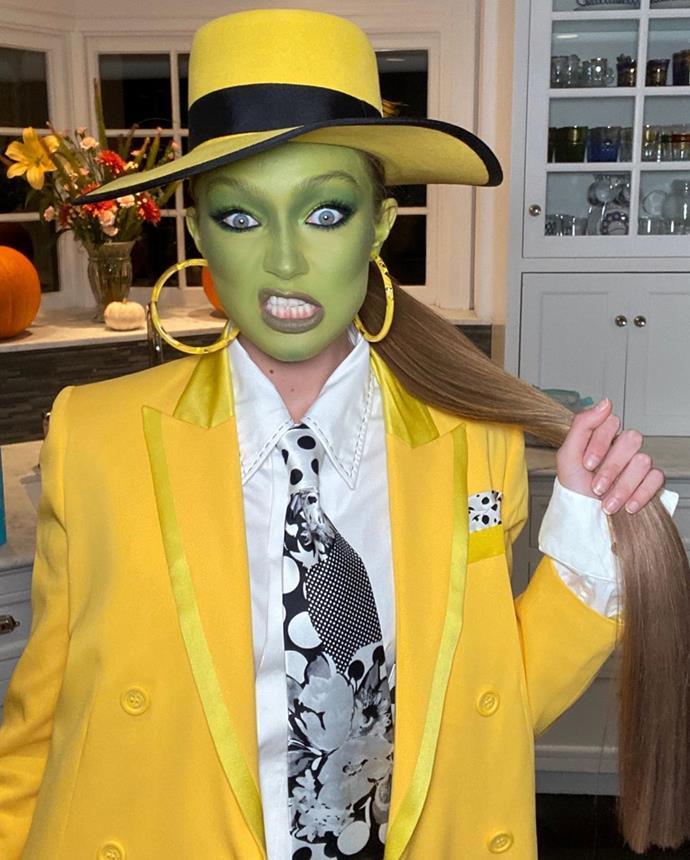 Gigi Hadid as The Mask.