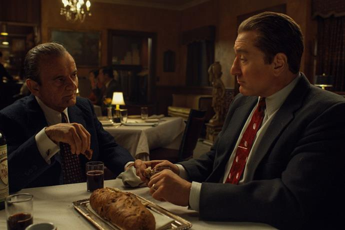 ***The Irishman*** **(27/11/2019)**<br><br>  A serious contender for next year's Oscars, Martin Scorsese's *The Irishman* stars Robert De Niro, Al Pacino and Joe Pesci in this epic saga of organised crime in post-war America.<br><br>  *Watch the trailer below*