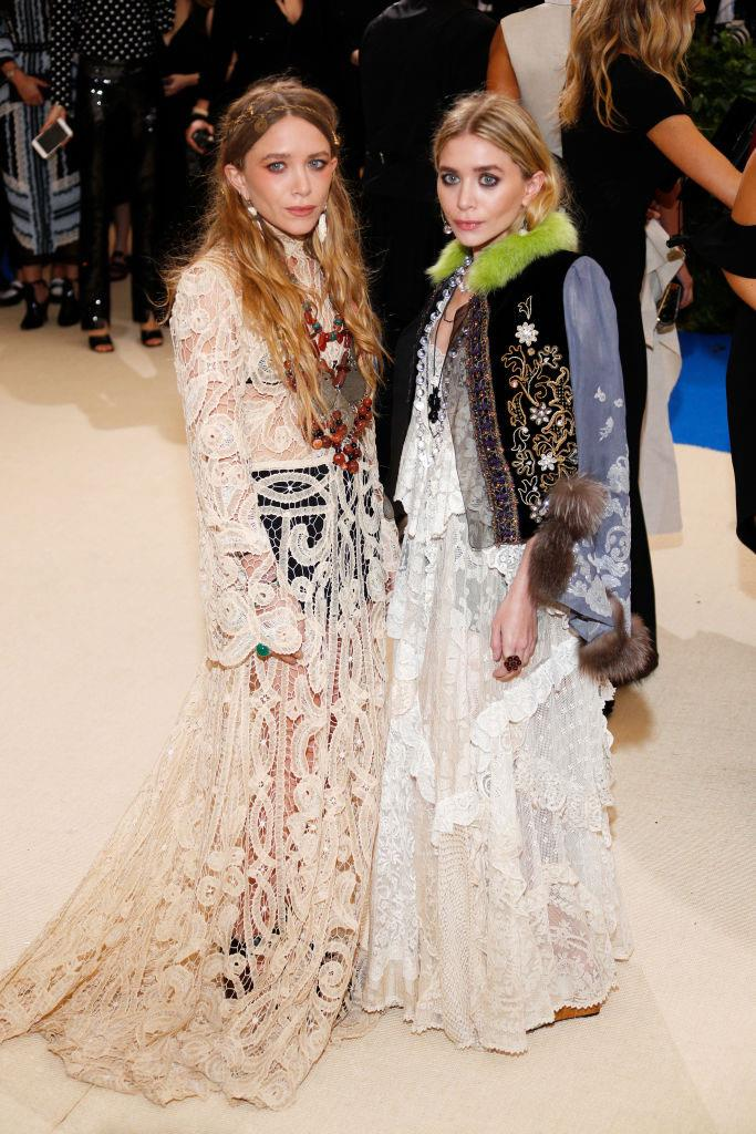 Mary-Kate and Ashley Olsen at the 2017 Met Gala in May 2017.