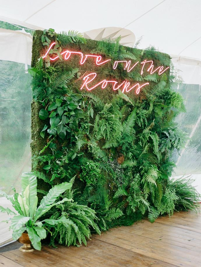 "**Greenery walls** <br><br> *After Christian Dior's wall of lavender set the wedding industry alight in 2017, it seemed like every party had a flower wall. For 2020, forgo the flower wall for a fresh decor alternative like greenery walls, filled with ferns, fruits, herbs and more.* <br><br> **Tip:** Try to have a meeting with your florist two weeks prior to your event so you can get a true sense of what is in season that close to your special day. It is also good to have a mock-up/pre-run of what your desired plant selections will look like if you are nervous - this will come with a fee. <br><br>  [Pic: @RachelHavel](https://www.instagram.com/rachelhavel/|target=""_blank""