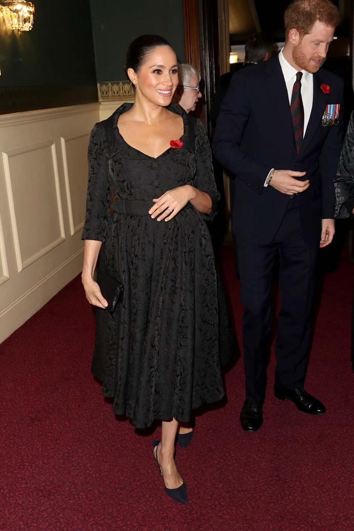 Meghan, Duchess of Sussex, at the Field of Remembrance performance.
