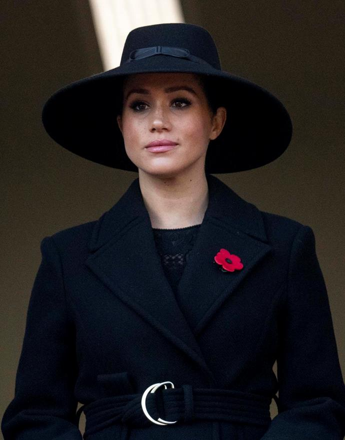 Meghan, Duchess of Sussex, during Remembrance Sunday.