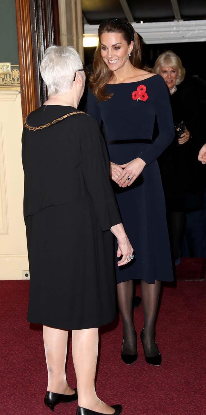 Catherine, Duchess of Cambridge, at the Field of Remembrance performance.