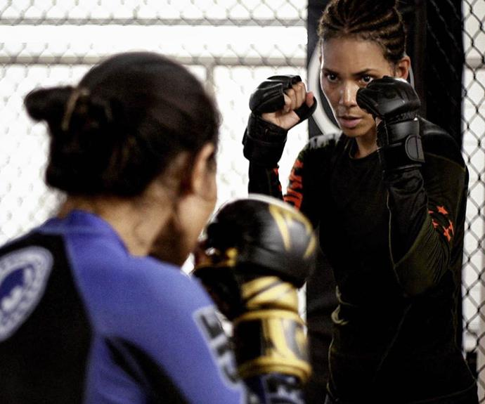 "**EXERCISE: Boxing**<br><br>  Although she appears to have upped the intensity and variety of her workouts for her character in *Bruised*, Berry has been a fan of boxing for the past 10 years.<br><br>  ""Boxing is still considered one of the best full-body workouts,"" Berry [wrote](https://www.instagram.com/p/Bm35UZ1gykk/