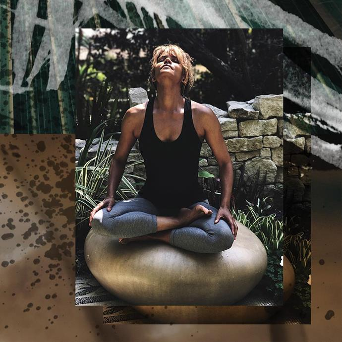"**WELLNESS: Meditation**<br><br>  Another one of Berry's go-to rituals? Meditation. In April 2018, Berry [posted](https://www.instagram.com/p/BhPUxcSAc8A/|target=""_blank""