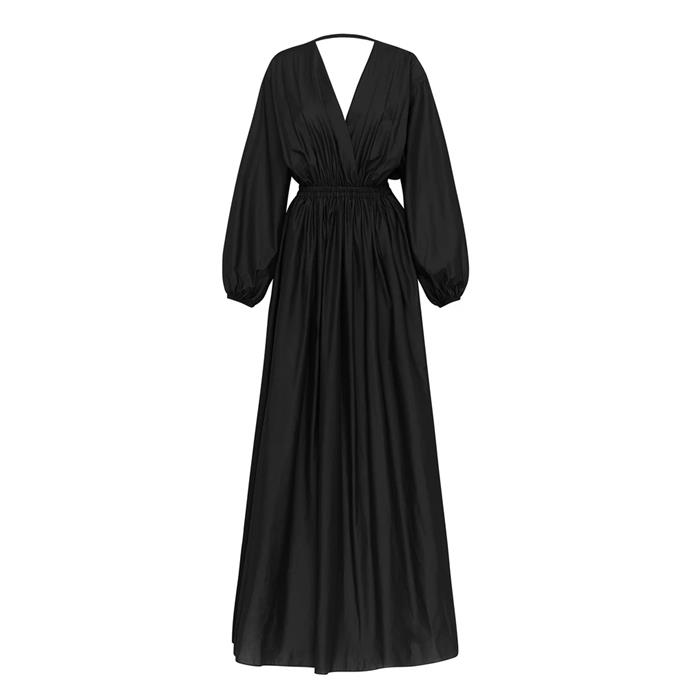 "Dress by Matteau, $540 at [The Undone](https://www.theundone.com/collections/dresses/products/open-back-plunge-dress|target=""_blank""