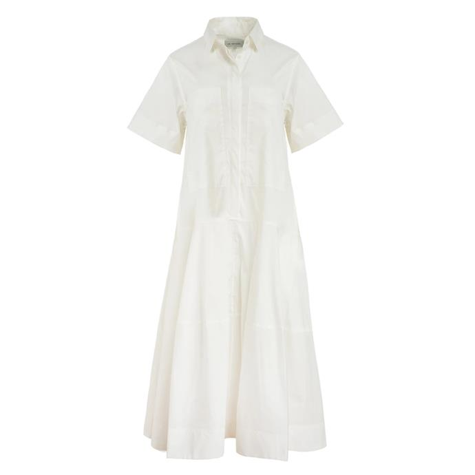"Dress by Lee Mathews, $549 at [The Undone](https://www.theundone.com/products/elsie-short-sleeve-shirt-dress|target=""_blank""|rel=""nofollow"")."