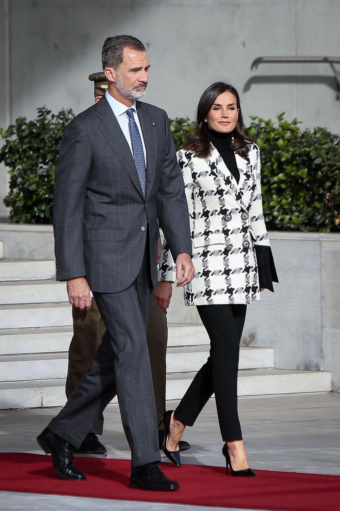Queen Letizia of Spain and King Felipe VI in Madrid on November 11, 2019.