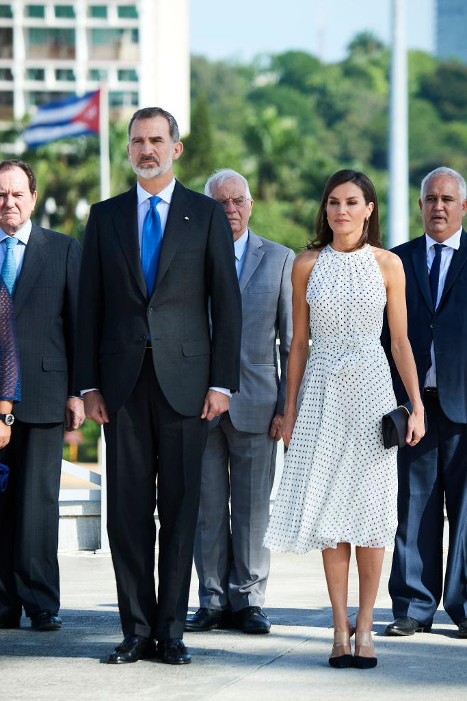 Queen Letizia of Spain and her husband, King Felipe VI, in Havana, Cuba on November 12, 2019.