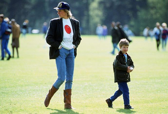 Diana, Princess of Wales and Prince William, 1988