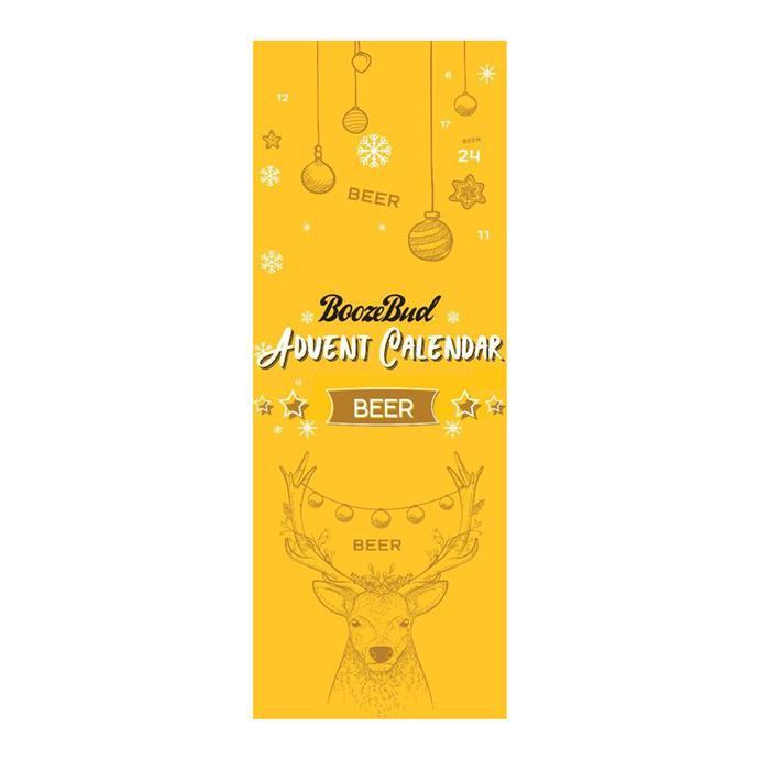 "Beer Advent Calendar, $109.99 by [BoozeBud](https://www.boozebud.com/p/boozebud/2019beeradventcalendar|target=""_blank""|rel=""nofollow"")."