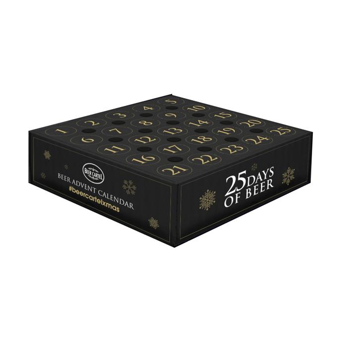 "Beer Advent Calendar, $149.99 by [Beer Cartel](https://www.beercartel.com.au/beer-advent-calendar|target=""_blank""
