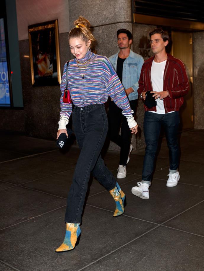 Gigi Hadid in New York on October 6, 2019.