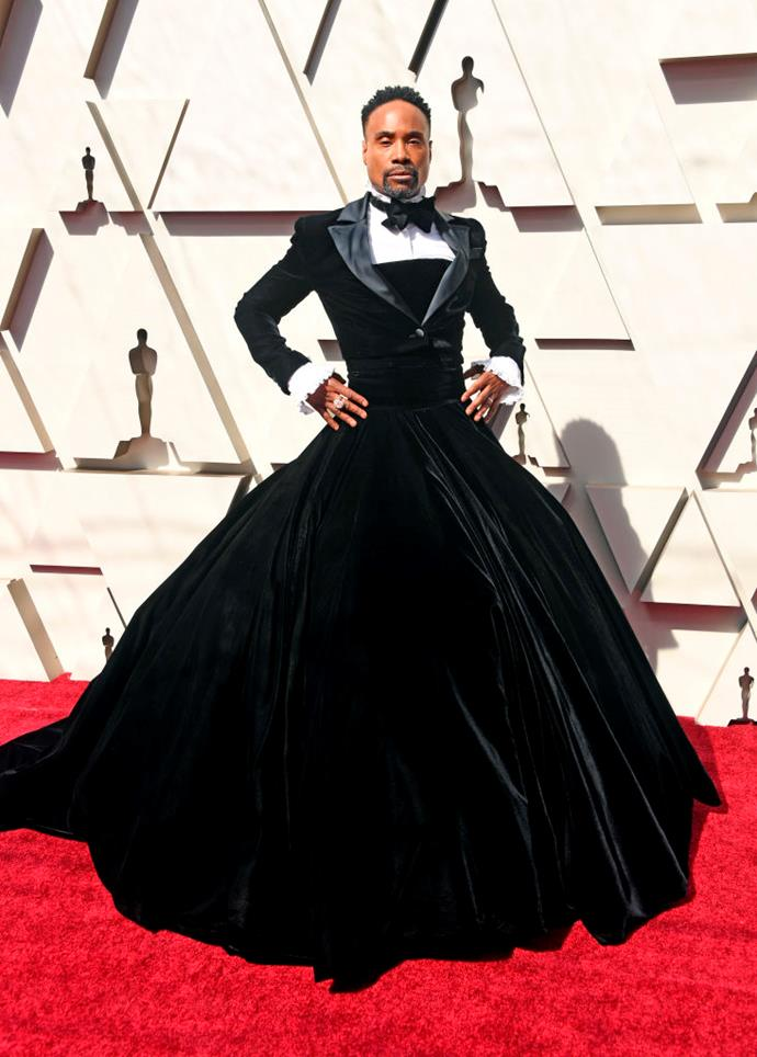 **10. Billy Porter**<br><br>  Ranking at number 10, actor and Broadway star Billy Porter was responsible for one of the most-discussed red carpet moments of the year after he appeared at the 2019 Oscars in a custom tuxedo gown by Christian Siriano. This moment alone bolstered searches for the brand to jump up by 101% within the space of 24 hours.