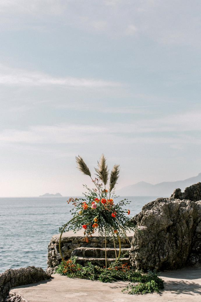 **On the overall vision for the day:** We wanted to have a very intimate and romantic day, which is why we selected Casa Privata, a private location hidden between the rocks.