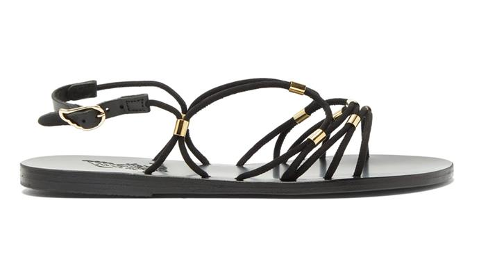 "**Sandals by Ancient Greek Sandals, $375 at [MATCHESFASHION.COM](https://www.matchesfashion.com/au/products/Ancient-Greek-Sandals-Pasifai-suede-sandals-1335720|target=""_blank""