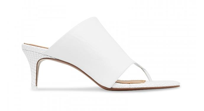 "**Mules by [Camilla and Marc](https://www.camillaandmarc.com/harper-mule-white.html#|target=""_blank""