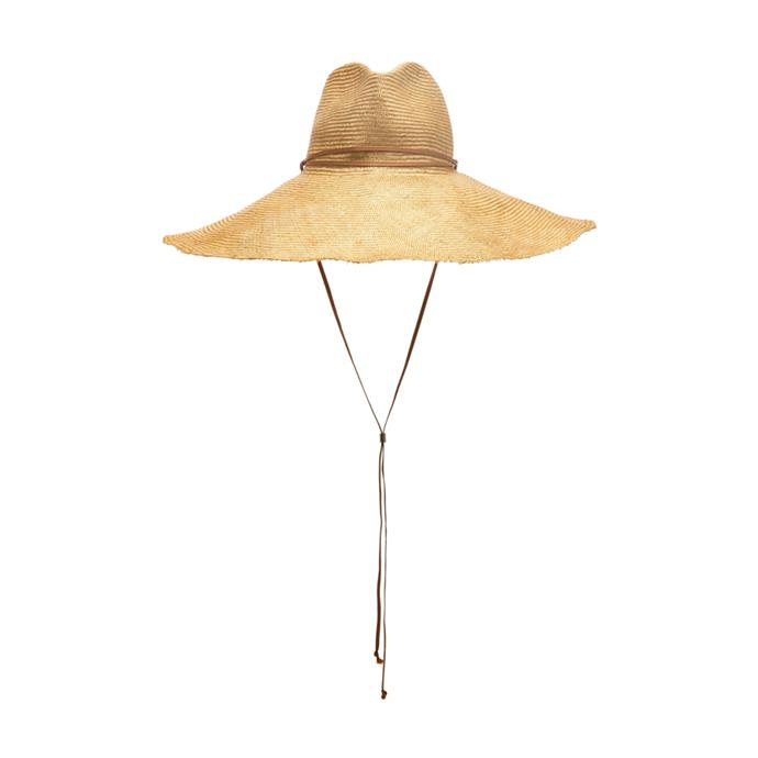 "Hat by Clyde, $410 at [Moda Operandi.](https://www.modaoperandi.com/clyde-r20/poppy-oversized-straw-hat|target=""_blank""|rel=""nofollow"")"