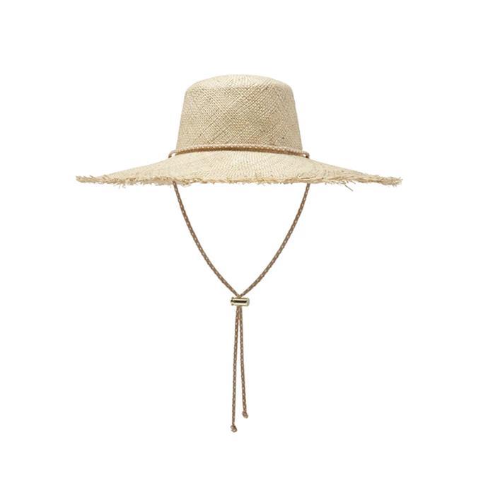 "Hat, $150 by [Avenue.](https://avenuethelabel.com.au/collections/new-arrivals/products/francesca-sunhat|target=""_blank""|rel=""nofollow"")"