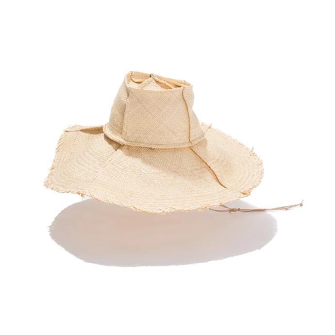 "Hat, $360 by [hatmaker.](https://hatmaker.com.au/collections/women-s-hats/products/bondi|target=""_blank""|rel=""nofollow"")"