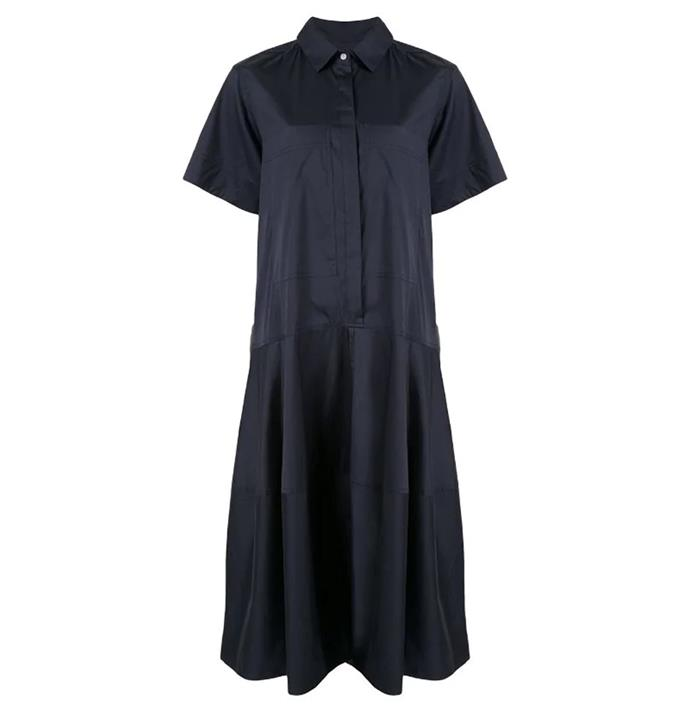 "**Dress by [Lee Mathews](https://leemathews.com.au/products/elsie-short-sleeve-shirtdress-navy|target=""_blank""