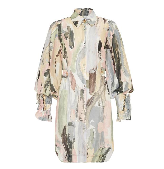 "**Dress by Aje, $495 at [David Jones](https://www.davidjones.com/brand/aje/22888027/Paperbark-Shirt-Dress.html|target=""_blank""