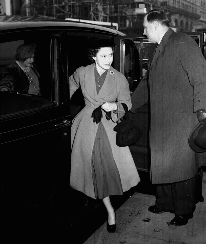 In a covetable coat in 1953.