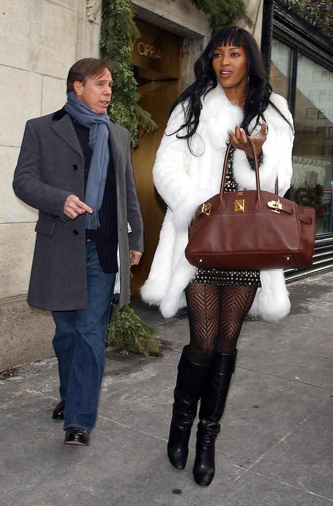 Naomi Campbell and Tommy Hilfiger in 2004.