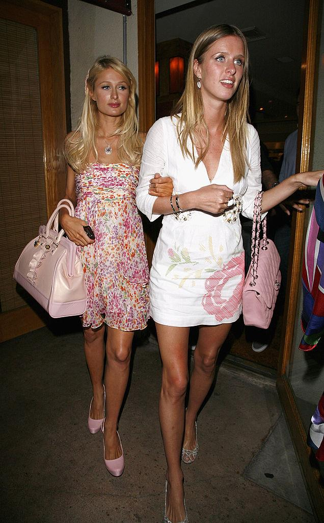 Paris and Nicky Hilton in 2008.