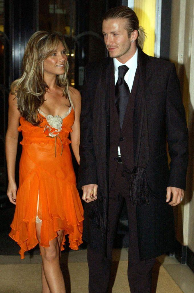 Victoria and David Beckham in 2004.