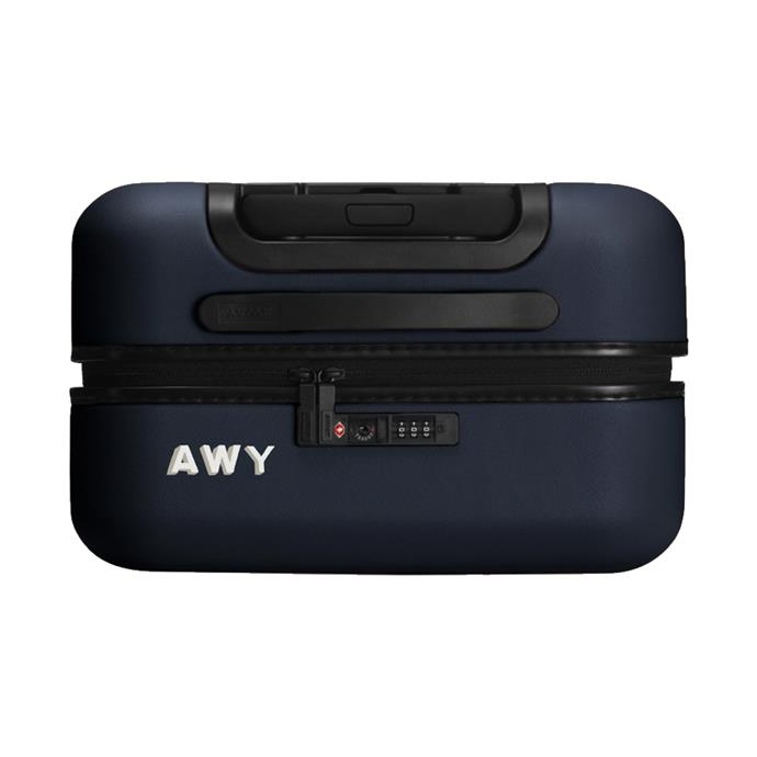 """Suitcase with built-in battery, $245 by [Away](https://www.awaytravel.com/suitcases/bigger-carry-on/navy target=""""_blank"""" rel=""""nofollow"""")."""