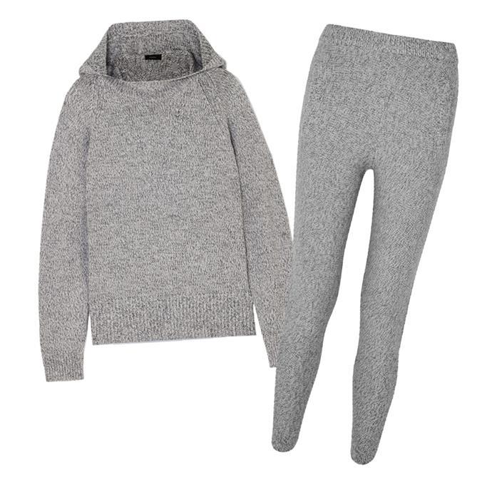 """[Wool sweatpants](https://www.net-a-porter.com/au/en/product/1148947/joseph/melange-wool-track-pants target=""""_blank"""" rel=""""nofollow""""), $363, and [hooded sweater](https://www.net-a-porter.com/au/en/product/1148934/joseph/mouline-hooded-melange-wool-sweater target=""""_blank"""" rel=""""nofollow""""), $598, both by Joseph at NET-A-PORTER."""