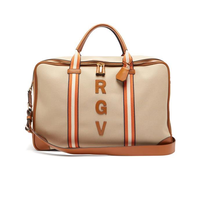 "Bag by Anya Hindmarch, $1,915 at [MATCHESFASHION.COM](https://www.matchesfashion.com/au/products/Anya-Hindmarch-Walton-customisable-canvas-travel-bag-1317426 target=""_blank"" rel=""nofollow"")."