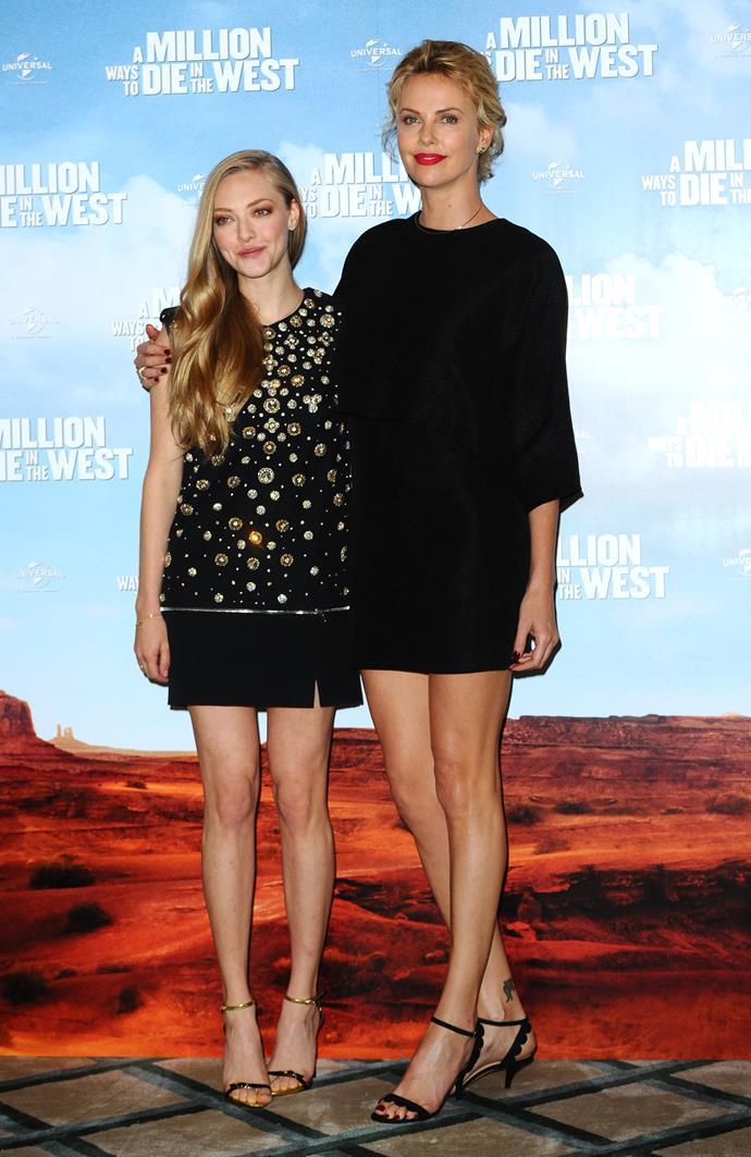 "**Amanda Seyfried** (left) is 159 cm, or 5""3', tall."