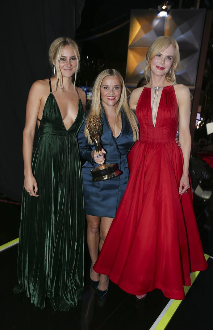 """**Reese Witherspoon** (centre) is 156 cm, or 5""""1', tall."""