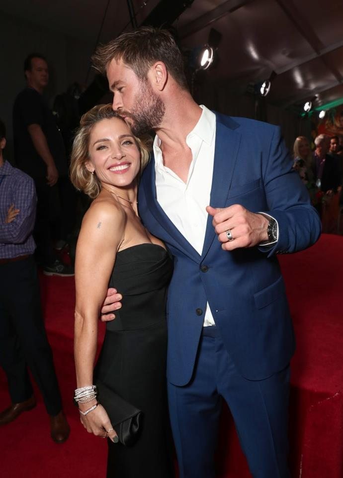 Pataky and her husband, Chris Hemsworth, in 2017.