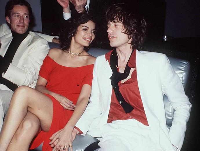 Mick and Bianca Jagger's undone glamour in 1977.
