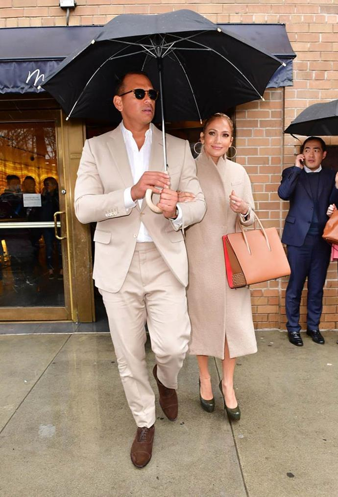 Jennifer Lopez and Alex Rodriguez's neutral know-how in 2017.