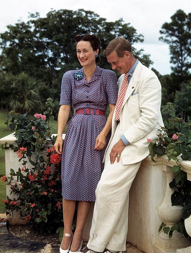 Prince Edward and Wallis Simpson's printed pairing in 1942.