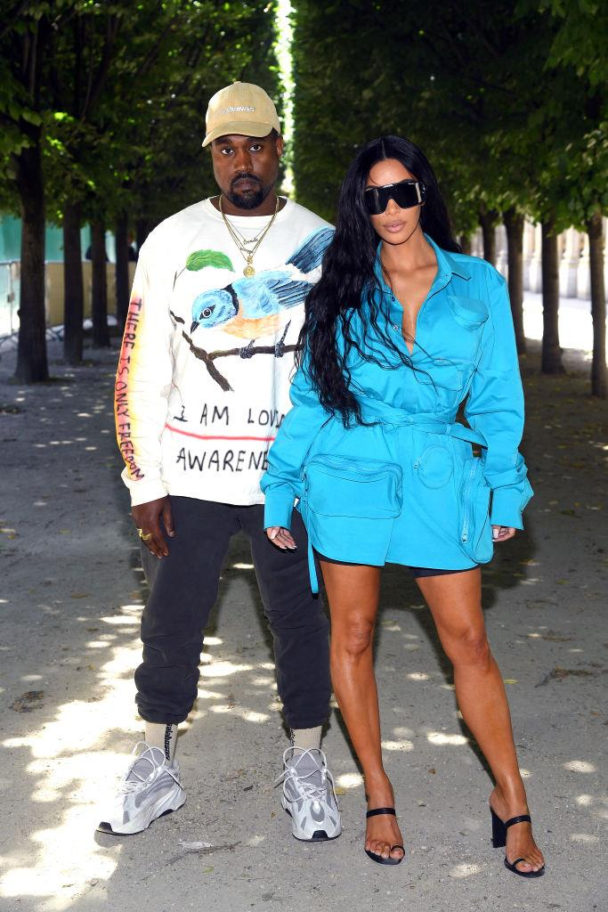 Kim Kardashian and Kanye West's elevated edginess in 2018.