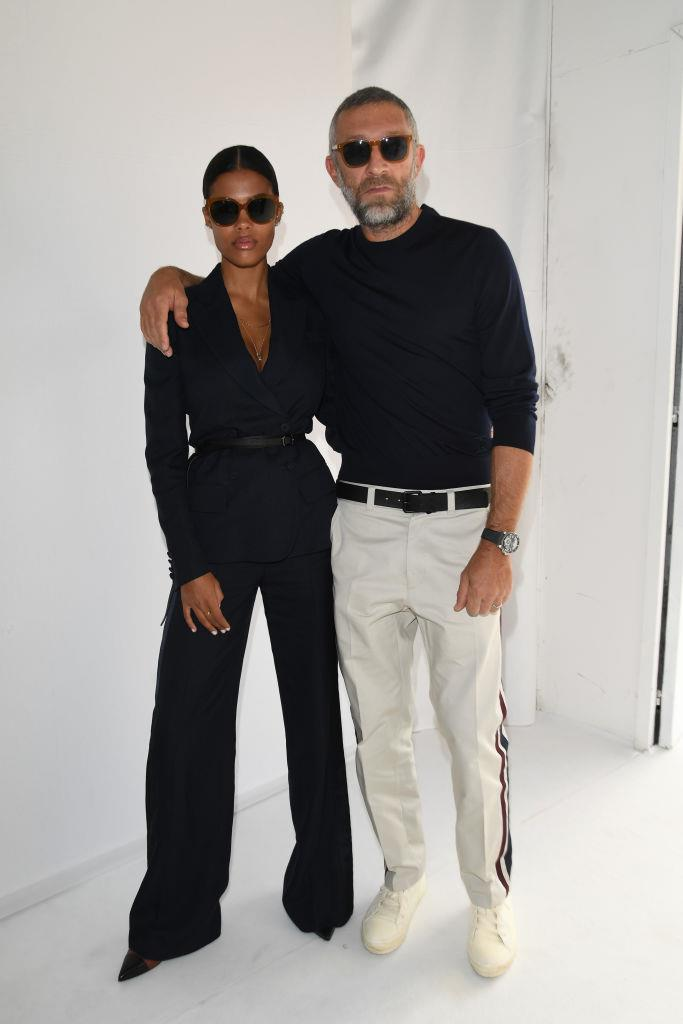 Vincent Cassel and Tina Kunakey's understated monochrome in 2018.