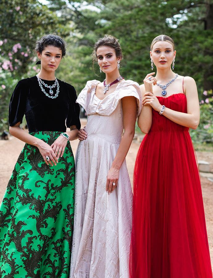 Models wear pieces from Van Cleef & Arpel's Romeo & Juliet collection.
