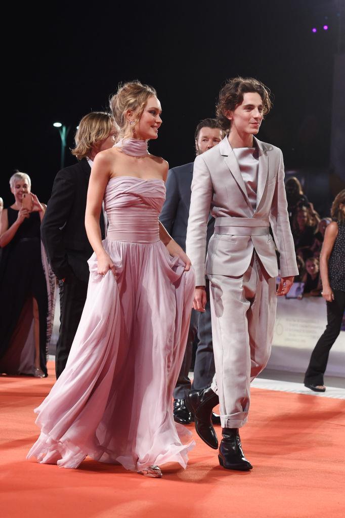 Timothée Chalamet and Lily-Rose Depp's otherworldly elegance in 2019.
