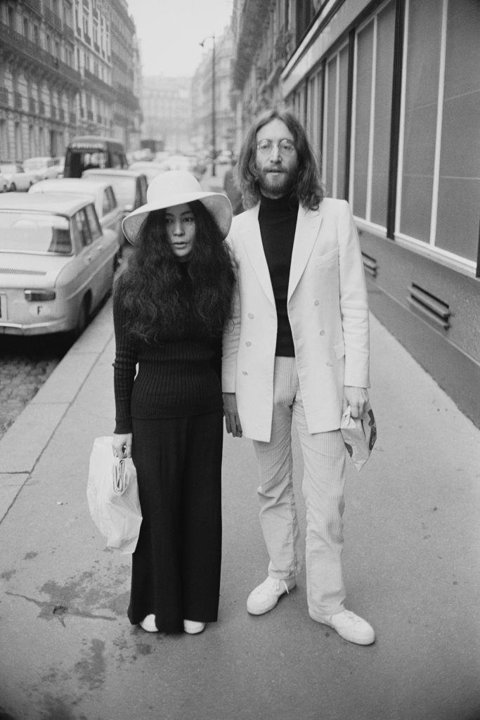 John Lennon and Yoko Ono's Yin and Yang monochrome in 1969.